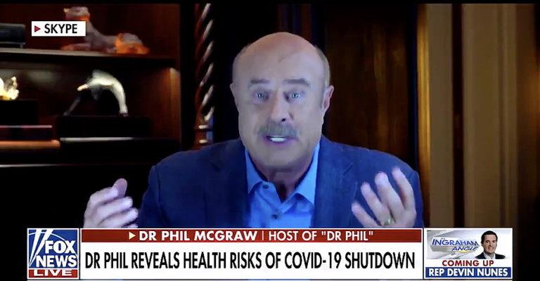 Dr. Phil (Not A Doctor) Talking Some Fake Shutdown Bullsh*t