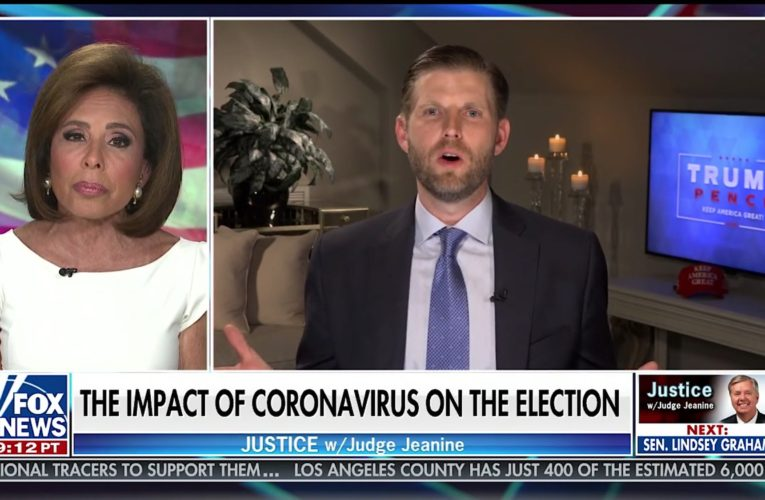 Eric Trump: 'After November 3rd Coronavirus Will Magically All Of The Sudden Go Away'