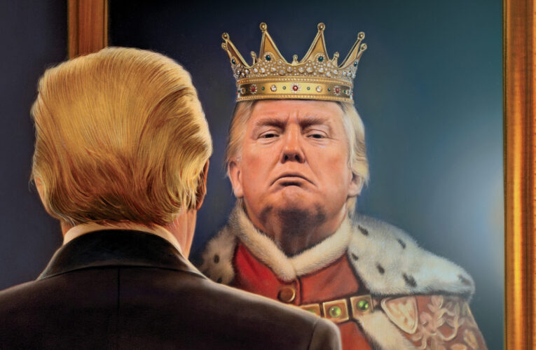 MY NAME IS TRUMP, KING OF KINGS, LOOK UPON MY WORKS YE MIGHTY AND DES- … STOP LAUGHING, IT'S NOT FUNNY!