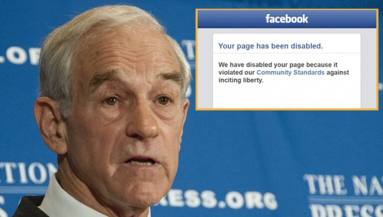 Ron Paul Banned From Facebook For Inciting Dangerous Levels Of Liberty
