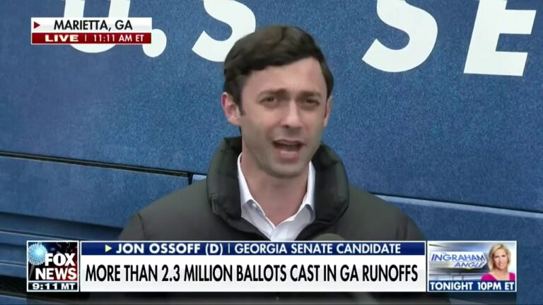 Jon Ossoff brilliantly turns the tables on a Fox News reporter who tried to corner him