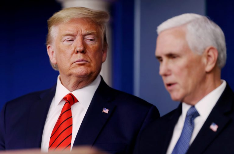 Divorcing Pence and Trump Argue Over Who Gets Custody of Imprisoned Children at Border