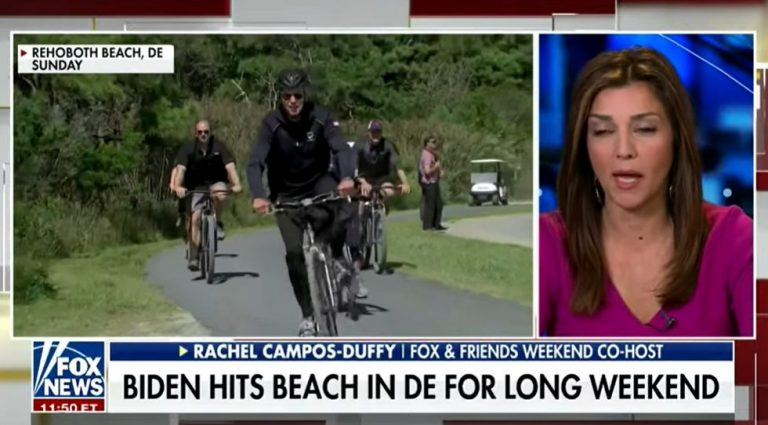 Fox News Idiot Wishes Biden Didn't Constantly Ride Bike Like Old Sad Frail Dead Bike Riding Person